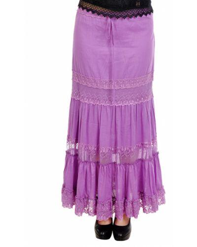 Хлопковая юбка - фиолетовая Charo Ruiz