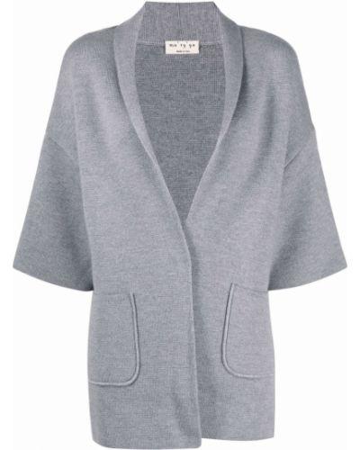 Серая куртка с накладными карманами Ma'ry'ya