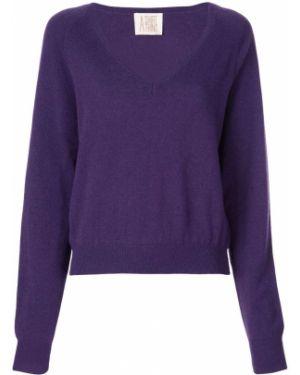 Кашемировая фиолетовая рубашка с разрезом A Shirt Thing