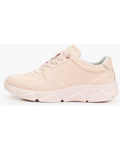 Розовые кожаные кроссовки Wilmar