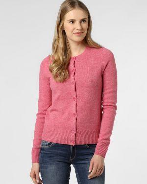 Ciepły różowy kardigan wełniany Brookshire