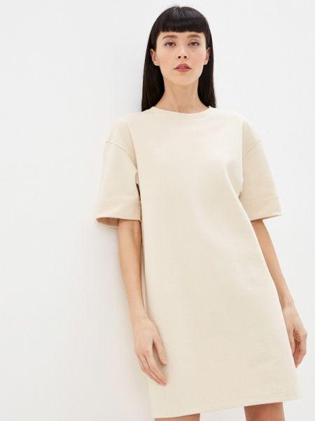 Платье платье-толстовка бежевое Sela