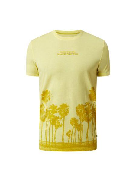 T-shirt z printem - żółta Q/s Designed By