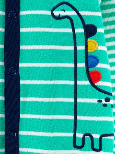 Хлопковый синий комбинезон на кнопках Carter's