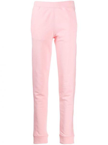 Розовые спортивные брюки с поясом Moschino