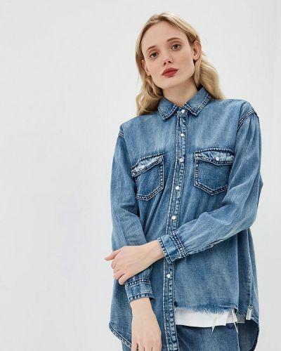 Голубая джинсовая рубашка One Teaspoon