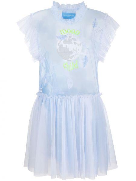 Платье мини с вышивкой со вставками Viktor & Rolf