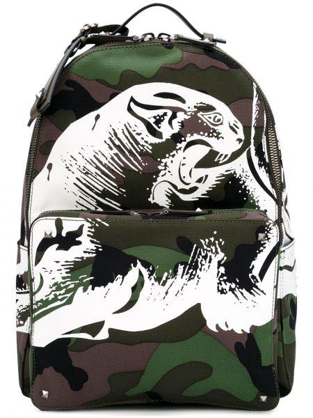 Кожаный рюкзак - зеленый Valentino Garavani