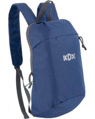 Брендовый синий рюкзак с карманами Kdx