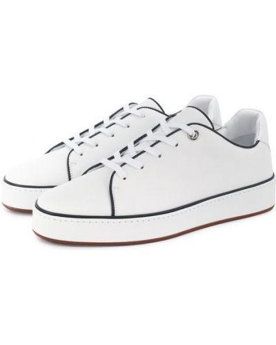 Кеды белые кожаные Loro Piana