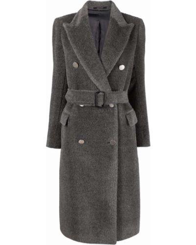 Серое шерстяное пальто Tagliatore