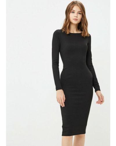 Платье осеннее черное Ribbon