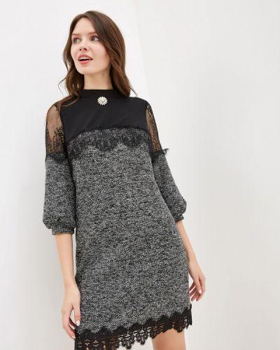 Платье серое прямое Gepur