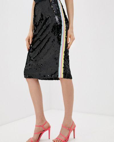 Черная прямая юбка карандаш Trussardi