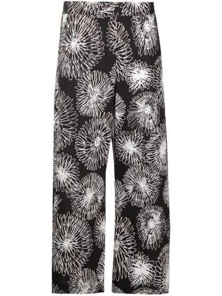 Прямые черные с завышенной талией брюки Piazza Sempione