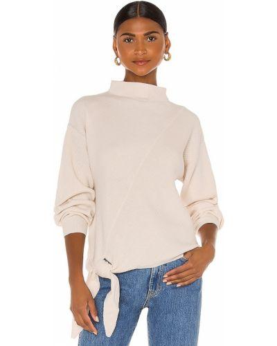 Бежевый шерстяной длинный свитер с длинными рукавами Rebecca Taylor