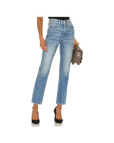 Хлопковые зауженные джинсы-скинни на молнии Slvrlake