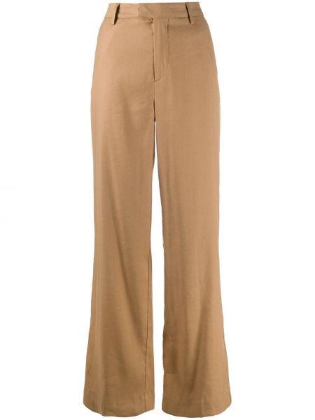 Szerokie spodnie z kieszeniami z paskiem Closed