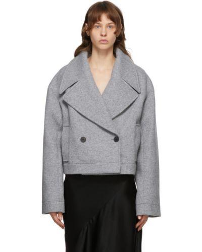 Черная длинная куртка с подкладкой с лацканами с воротником Haider Ackermann