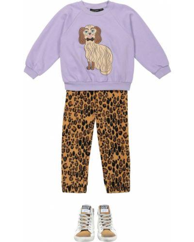 Bawełna bawełna fioletowy bluza Mini Rodini