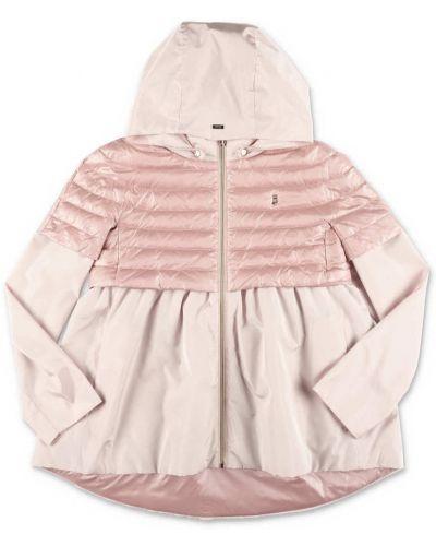 Różowa kurtka pikowana oversize Herno