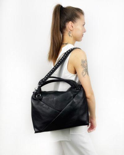 Кожаная сумка - черная Polina & Eiterou