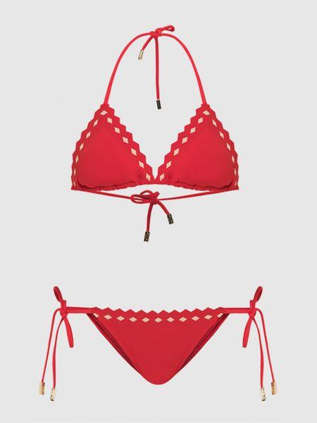 Красный купальник раздельный Moeva