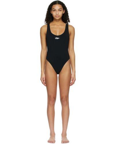 Czarny strój kąpielowy z nylonu bez rękawów Off-white
