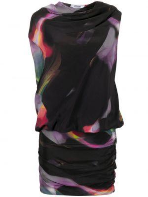 Приталенное платье мини с драпировкой с воротником с рисунком Moschino Pre-owned