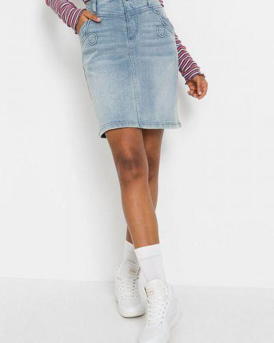 Голубая джинсовая юбка Bonprix