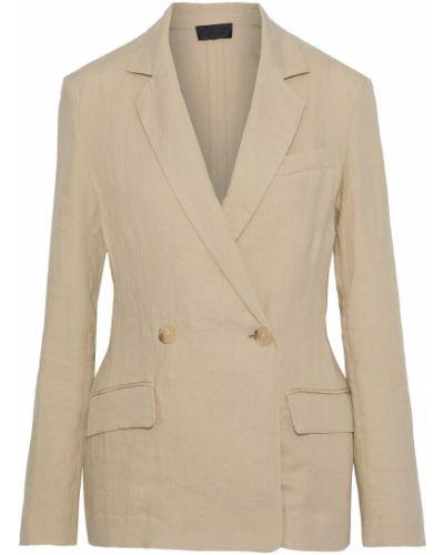 Льняной бежевый пиджак двубортный Nili Lotan