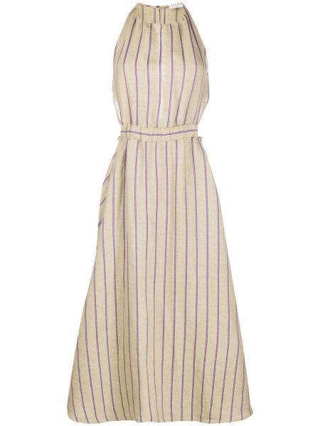 Платье миди в полоску с карманами Sandro Paris