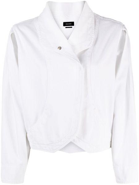 Белый удлиненный пиджак с воротником на пуговицах Isabel Marant