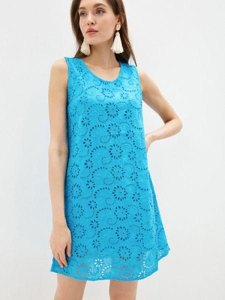 Ватное хлопковое бирюзовое платье Fresh Cotton
