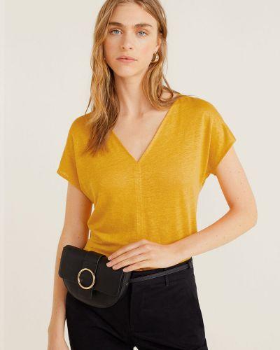 Koszula skromny żółty Mango