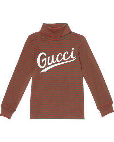 Bawełna bawełna zielony top rozciągać Gucci Kids