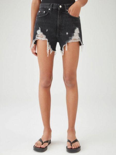Джинсовые шорты черные Pull&bear