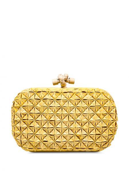 Кожаная желтая кожаная сумка Bottega Veneta Pre-owned