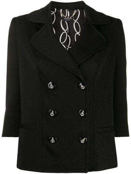 Пиджак черный шерстяной Elisabetta Franchi