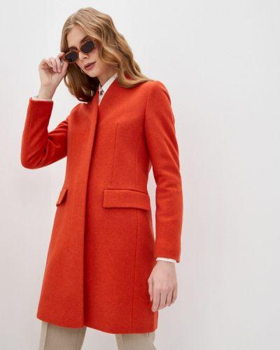 Оранжевое пальто Boss
