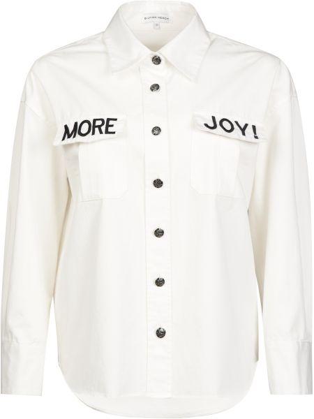 Хлопковая белая рубашка на пуговицах Silvian Heach