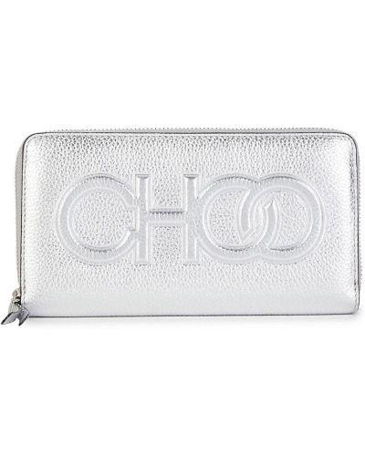 Кожаный кошелек - серебряный Jimmy Choo