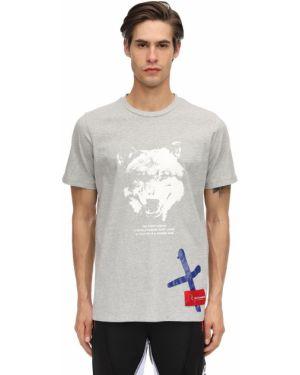 Prążkowany t-shirt bawełniany Renowned La
