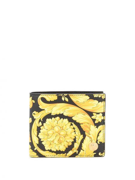 Portfel skórzany z wzorem Versace