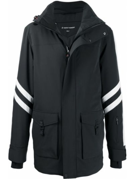 С рукавами черная куртка с капюшоном Perfect Moment