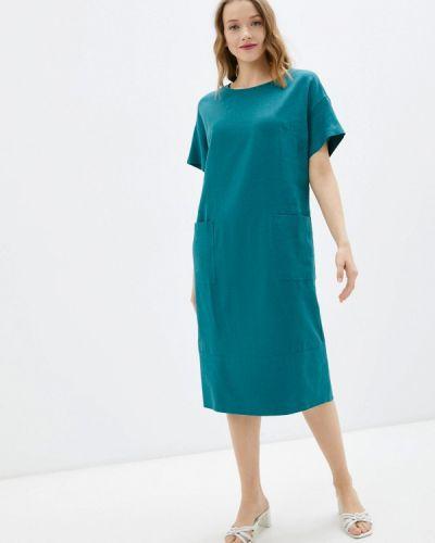 Бирюзовое повседневное платье Olbe