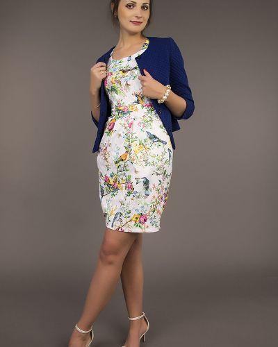 Платье с поясом тюльпан с карманами ангелика