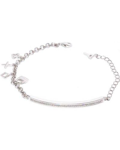 Серебряный браслет с подвесками с камнями Silver Wings