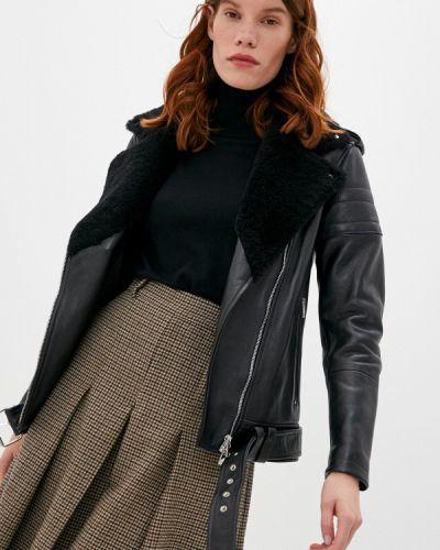 Кожаная черная кожаная куртка Blouson