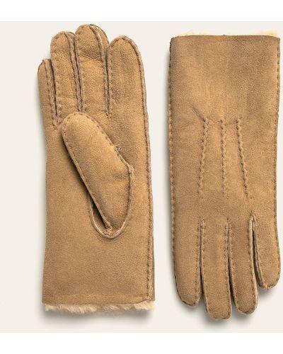 Кожаные перчатки замшевые бежевые Emu Australia